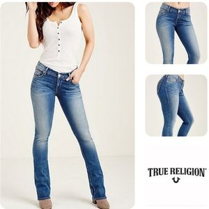 True Religion Becky Bootcut Distressed Jeans 26P